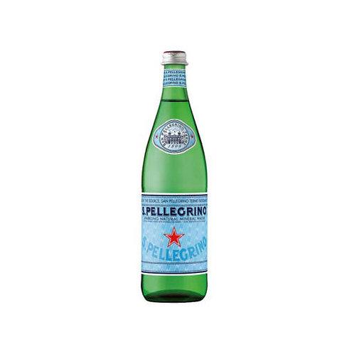 S.PELLEGRINO SPARKLING MINERAL WATER GLASS 750ml BOTTLE