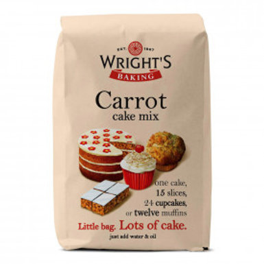 WRIGHTS CARROT CAKE MIX 500gr