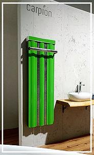 Modernes Badheizung mit Handtuchhalter von Carpion