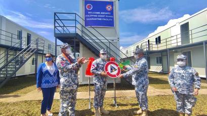 Kauna-Unahang Quarantine Facility ng PCG, Ganap nang Binuksan