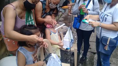 11k na Bata sa Pasig, Tumanggap ng Food Packs
