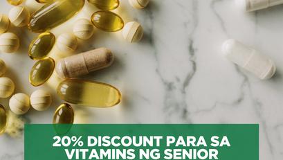 20% Discount Para sa Vitamins ng Senior Citizen, Isinulong ng DOH