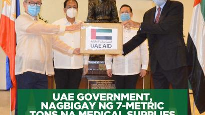 UAE Government, Nagbigay ng 7-Metric Tons na Medical Supplies sa Pilipinas