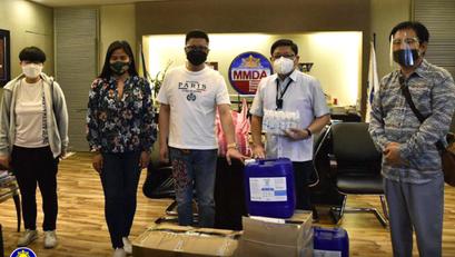 Korean NGO, Nag-donate ng 500 KN95 Masks at iba pang PPEs sa Ahensya ng MMDA