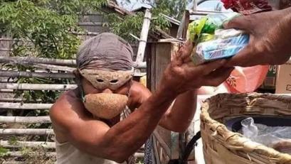 Bao ng Buko, Ginamit na Face Mask ng Isang Mangyan
