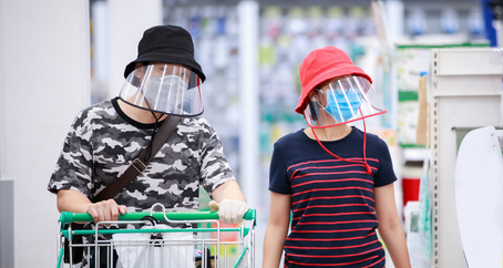 Face Shields, Kailangan na rin sa mga Supermarkets, Malls at Government Venues