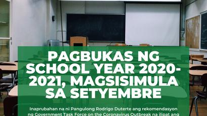 Pagbukas ng School Year 2020-2021, Magsisimula sa Setyembre