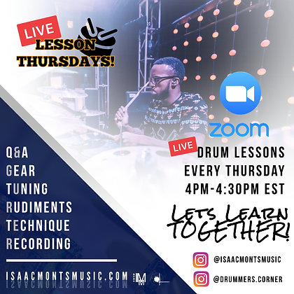 Live Lesson Thursdays!