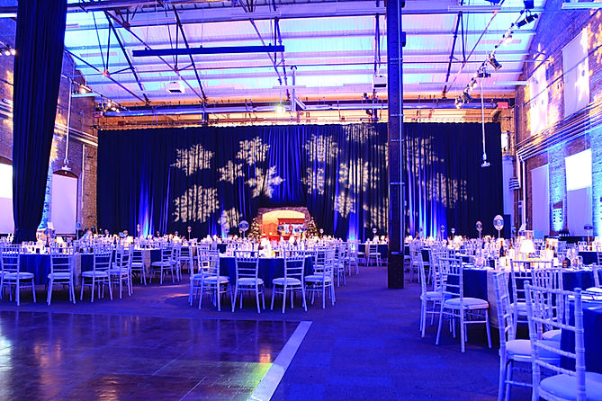 winter gobo projections for hire for Christmas events in the UK