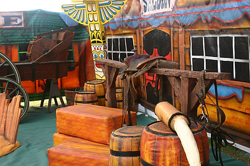 Western theme cowboy party hire.