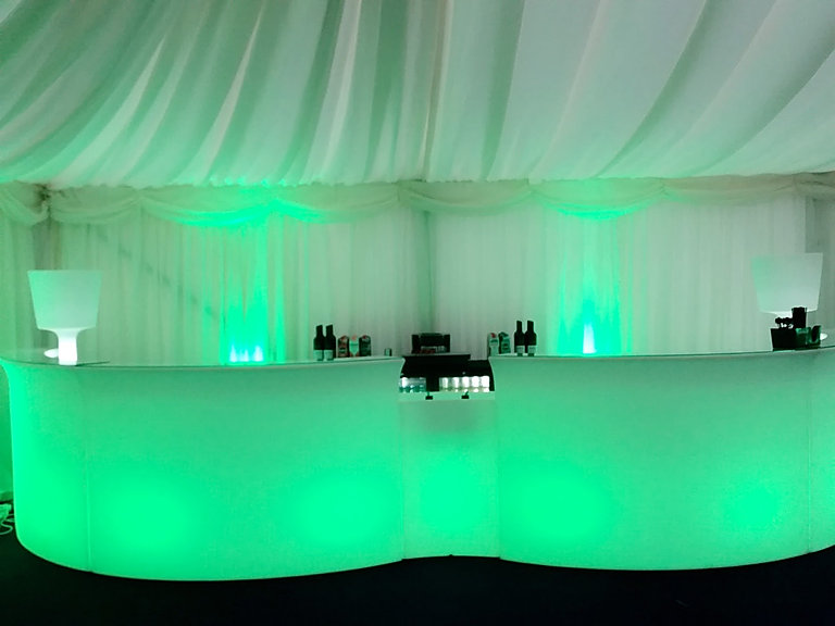 LED Mobile Bar for Hire for Marquee Luxury Events London UK