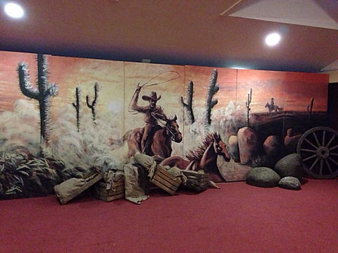 wild west backdrop hire. Hire cowboy backdrops, western backdrops and more.
