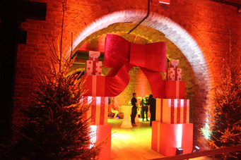 Christmas present entrance for events