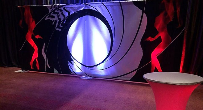 007 backdrop rental and hire near London.