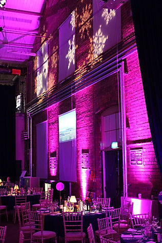 Lighting Equipment for Orient Express Themed Venue Transformation London UK