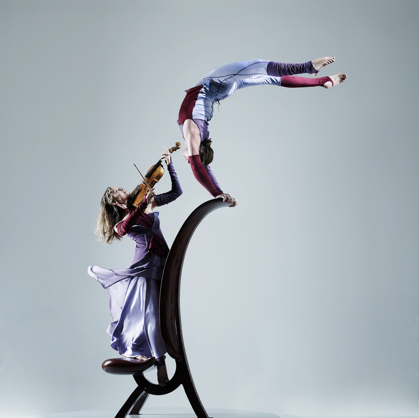 Aerial Viola performance