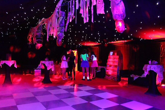 Unique Marquee Design for Horror Themed Birthday Party London UK