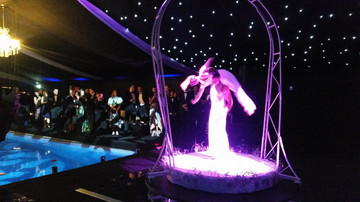 Aerial Acrobat Hire for Luxury Birthday Party Entertainment London UK