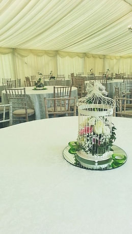 Birdcage Table Centrepieces for Marquee Wedding Event London UK