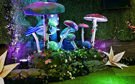 indoor garden props for hire. Hire our fairytale garden furniture, mushroom props and more near London
