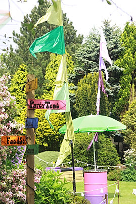 Festival Themed Garden Parties Planning London UK