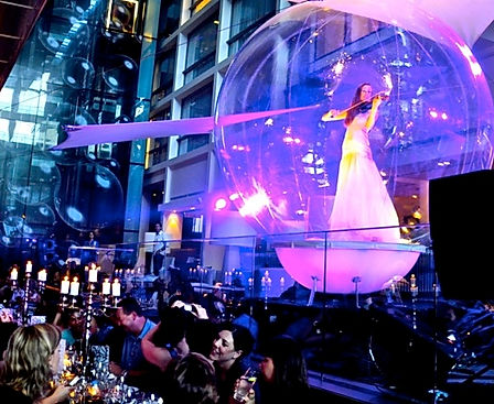 Vionlin in Bubble Entertainment Option for Private Parties London UK