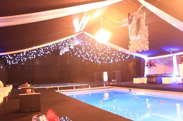 Marquee design around a clients swimming pool, we built a marquee in our clients back garden that went around thier swimming pool.