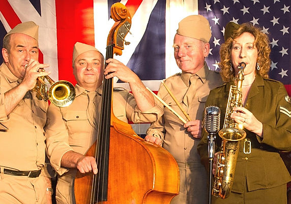 1940's themed bands for hire for army barracks and military themed events.
