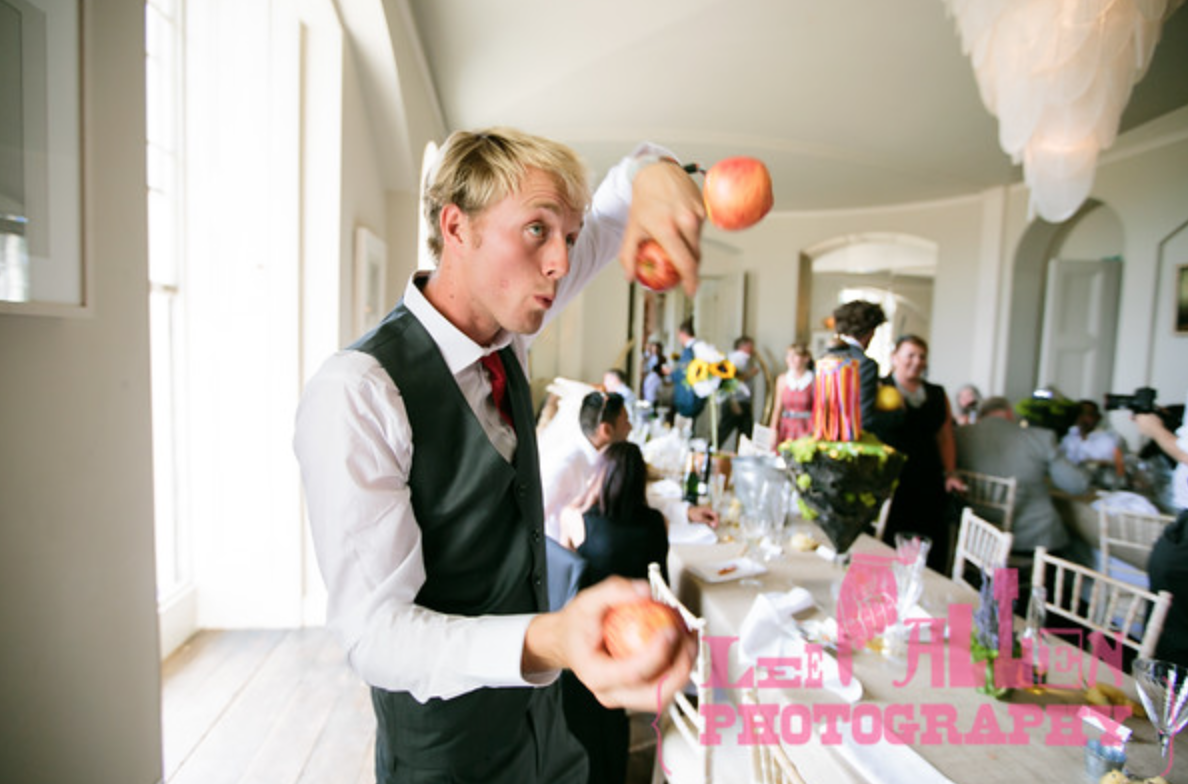 Jugglers for Festival Themed Wedding