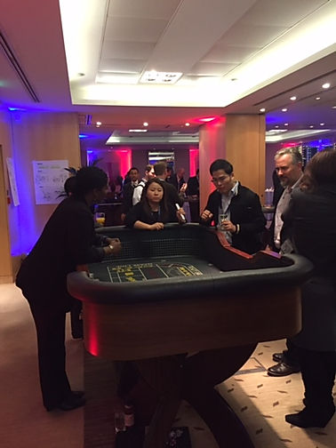 Casino tables for hire for casino nights and Casino Royale theme