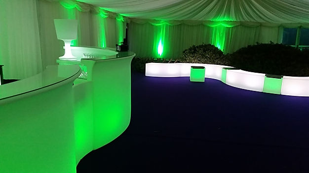 LED Bars and LED Furniture Hire for Private Marquee Parties London UK
