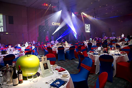 Lighting and venue transformation services for weddings and themed events.