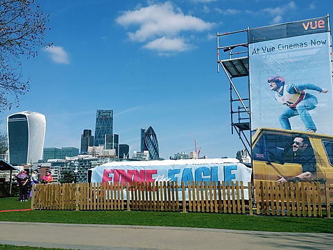 Eddie The Eagle Movie Launch - Experiential marketing event management London UK