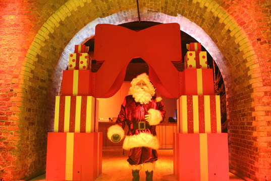 Archway made from presents