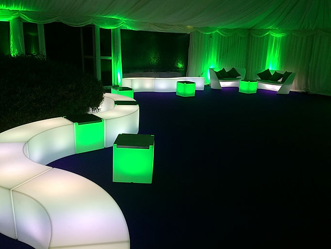 LED Furniture for Luxury Marquee Events London UK