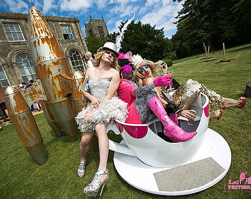 Garden party decorations and props. Perfect for alice themed summer events and more.