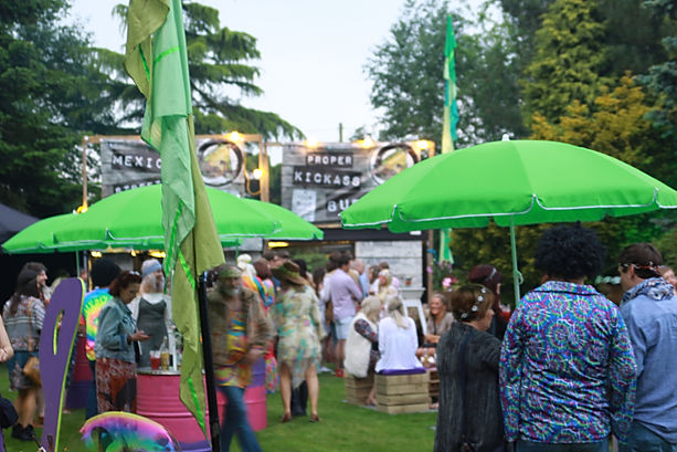 Food stations for hire for Hippie Themed Private Festival London UK