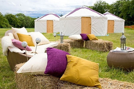 Yurt tents, bell tents and chill out tents for hire for summer events. Hire our luxury tents today.