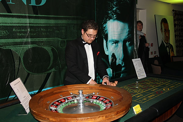 Casino tables for hire for Casino Royale theme party events.