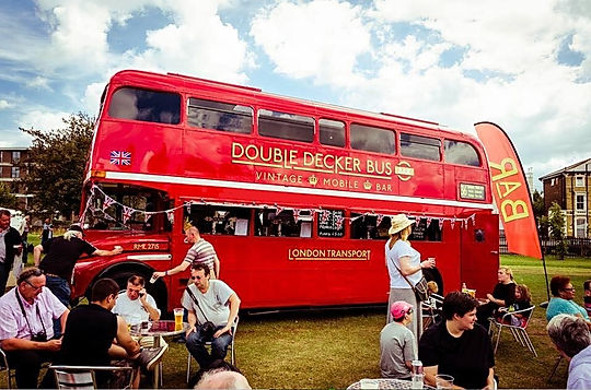 hire London buses and portable bars for outdoor events in London.