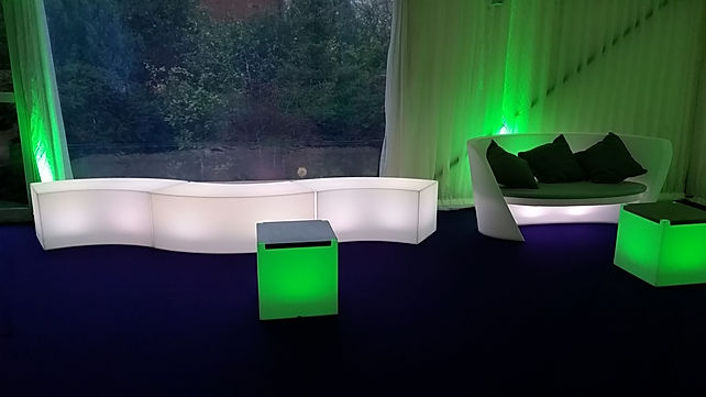 LED Mobile Furniture for Luxury Marquee Parties London UK