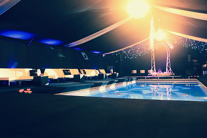 Marquees to Cover Swimming Pool for Luxury Events London UK