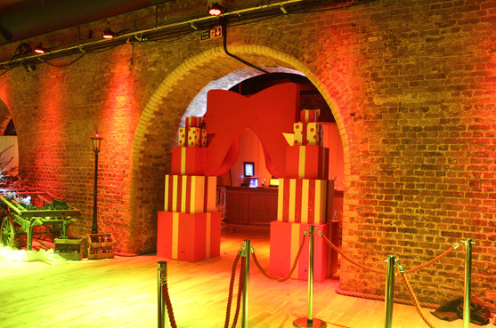 bespoke archway for Christmas party