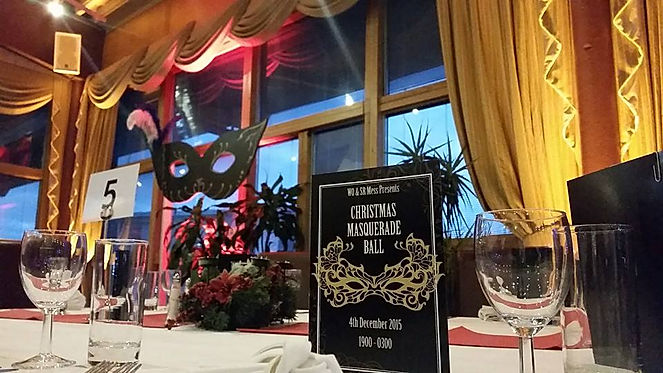 Masquerade table decorations for hire. Book decorations for gala dinner events in the UK.