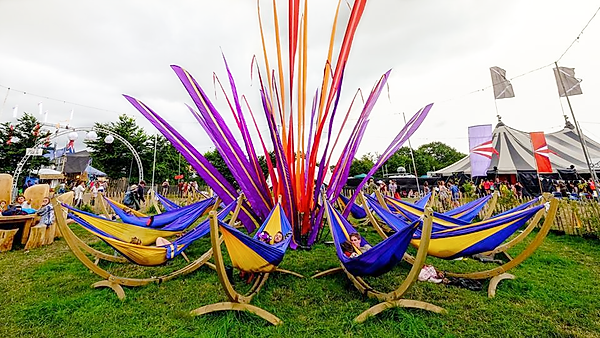 Hammocks for hire for festival events in London. Hire our hammocks for your next private festival