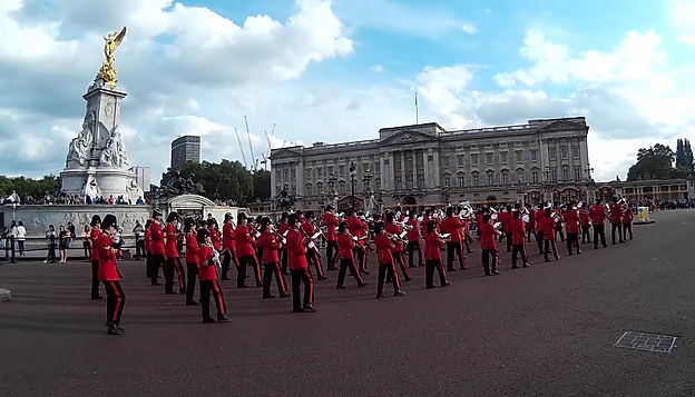 British marching bands for royal events.