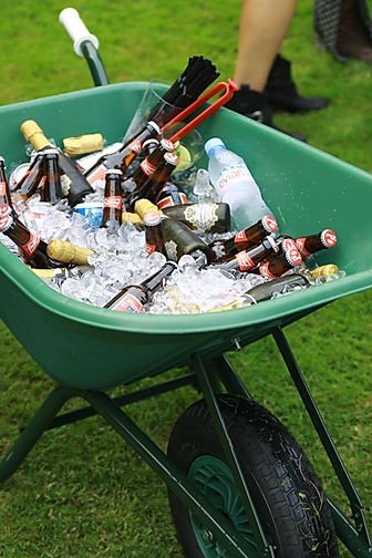 Wheelbarrow drinks coooler for hire for fun day events.