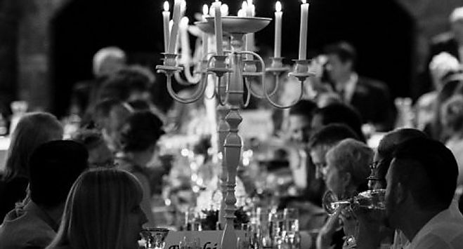 Candelabras for themed gala dinners, corporate events and themed evenings near London.