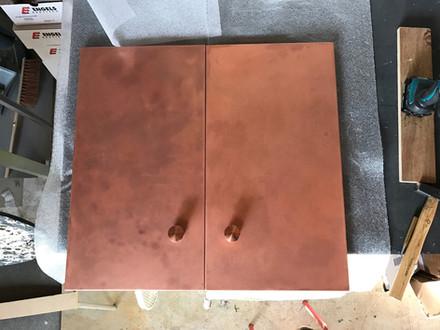 Copper Cabinet Doors