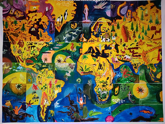Interpretação do mapa mundo de Almada Negreiros